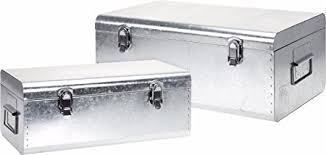 silver storage boxes. Perfect Silver Set Of 2 Large Silver Storage Boxes Retro Stowaway Intended H
