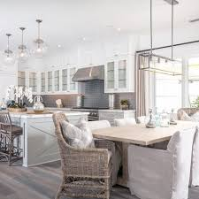 Modern Chic Kitchen Designs Grey White Modern Farmhouse Kitchen Dining Nook Kitchens