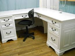 shabby chic office desk. Gorgeous Design Ideas White Executive Office Desk Impressive Shabby Chic By PerfectlyGoodStuff I