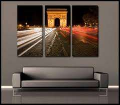 the arc paris 3 piece fine art canvas wall display  on wall picture artwork with shop for custom fine art multi piece wall art sets triptychs and
