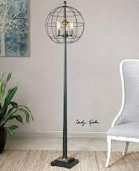palla round cage floor lamp