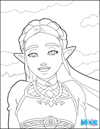 Legend Of Zelda Breath Of The Wild Coloring Pages