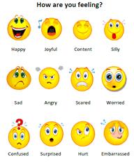 Feelings Faces Chart Feelings Chart Charts For Kids