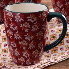 Each one is filled with half and half—ree's fave! The Pioneer Woman 26 Oz Jumbo Latte Mug Walmart Com Walmart Com