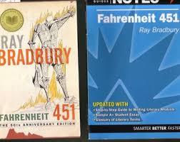 fahrenheit 451 set ray bradbury 1991 used paperback spark notes paperback in very good condition