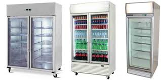 upright glass door display fridges freezers