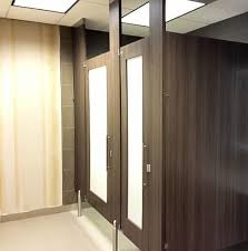 Bathroom Stall Partitions Awesome Ironwood Manufacturing Custom Laminate Bathroom Doors With Door Lite