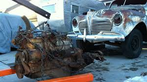 chrysler flathead six engine removed from 1941 plymouth