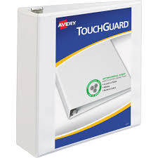 Avery Touchguard Protection Slant D Ring Heavy Duty View Binder 3 Binder Capacity Letter 8 1 2 X 11 Sheet Size 3 X Ring Fastener S 4