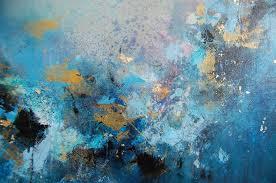 blue abstract art canvas original abstract painting blue abstract painting modern canvas