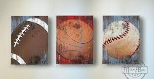on vintage sport wall art with vintage sports wall art basketball baseball and football