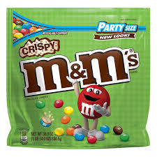 m m s crispy chocolate candy party size 30 ounce bag