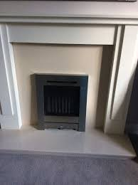 mdf cream fire surround with hearth and back panel