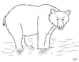 Alaska Brown Bear Get Coloring Page - Animal - Creative Brown ...