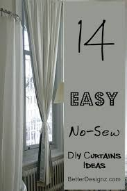 14 easy no sew diy curtains ideas curtain