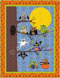 Owl-o-ween Hangout Wall Hanging | Owl, Patterns and Autumn quilts & Owl-o-ween Hangout Wall Hanging Adamdwight.com