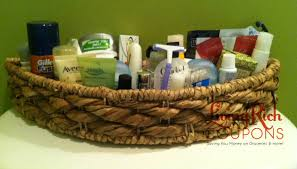 extreme couponing tip toiletry basket