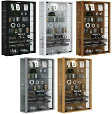 glass display cabinet wall mounted