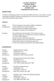 Gallery Of Examples Graduate Nurse Resumes Resume Template Lpn No