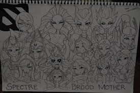 dota 2 female heroes by 38250968 on deviantart
