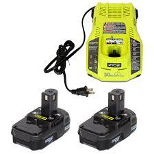 Ryobi P117 Charger No Lights Ryobi P117 18v One Charger And 2 P102 18v Lithium Ion Batteries