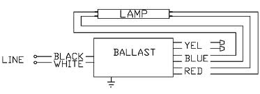 electrical how do i wire a two tube ballast to a single tube double tube light circuit diagram at Twin Tube Fluorescent Light Wiring Diagram