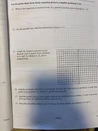 point slope form linear equation given