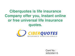 Free Life Insurance Quotes Online Beauteous PPT Instant Free Life Insurance Quotes Online CiberQuotes