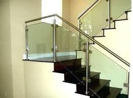 stair handrail design railing glass designs for staircase kerala steel