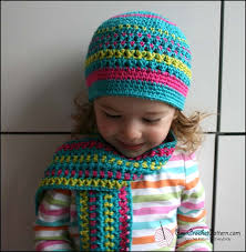 Childrens Crochet Hat And Scarf Patterns
