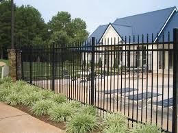 metal fence styles. Black Steel Fence Poolside Metal Styles E