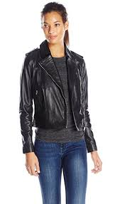 cole haan leather moto jacket from