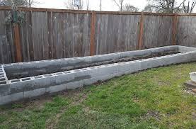 concrete block raised garden bed frame