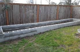 concrete block raised garden bed frame