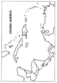 Blank Map Of Central Outline Latin America And The Caribbean