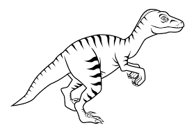 Small Picture Free New Dinosaur Velociraptor Coloring Pages For Kids Classroom