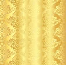 Gold Damask Background Gold Damask Pattern With Vintage Floral Ornament Stock