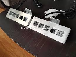 desk power outlet. 3 Outlets Desk Mounted Power Sockets With 2 USB Ports , Desktop And Data Outlet