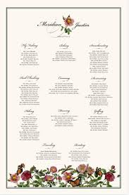 Rose Garden Seating Chart Wedding Seating Chart With Guest