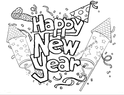 New Years Coloring Pages 2016ll Duilawyerlosangeles Happy New Year Colouring Sheet 2016L