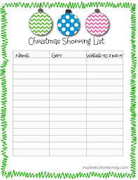 Printable Christmas Wish List Template Best House Interior Today