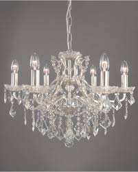 eden chandelier silver 6 light traditional glass crystal ceiling light intended for silver crystal chandelier