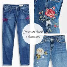Risultati immagini per jeans con patch floreali
