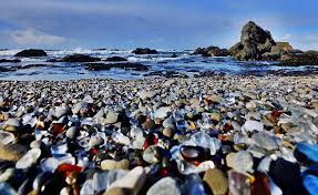 have you ever imagined the city dump being a place of tourist attraction it is true for the glass beach in california