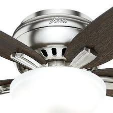 low profile ceiling fan 2 of 6 hunter low profile ceiling fan in brushed nickel with bowl light kit profile ceiling fan