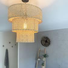Voir plus d'idées sur le thème abat jour, abat jour lampe, abat. Suspension Cannage Et Rotin Modele 3 Cercles Realisee A La Main