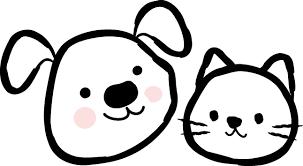 犬猫イラスト無料イラスト素材