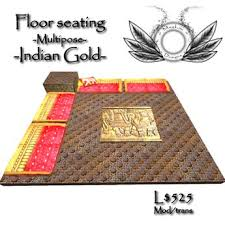 floor seating indian. Indian Gold Floor Seating With Table \u0026 Multipose Cushions Indian T