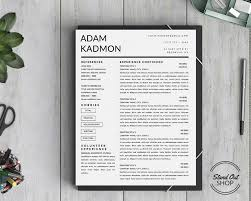 Resume Templates That Stand Out STAND OUT SHOP Modern 100Page Resume Template For Microsoft Word 16