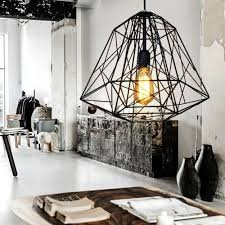 industrial cage lighting. Aliexpress.com : Buy Nordic Diamond Vintage Loft Pendant Lamp Iron Cage Industrial Light Bar/Warehouse/Dining Hall Fixture Lighting From Reliable